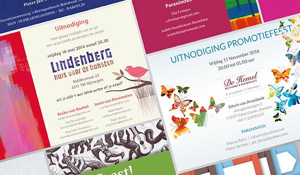 Ontwerp en opmaak proefschrift en uitnodiging, Thesis design